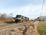 NS 9514 with containers westbound